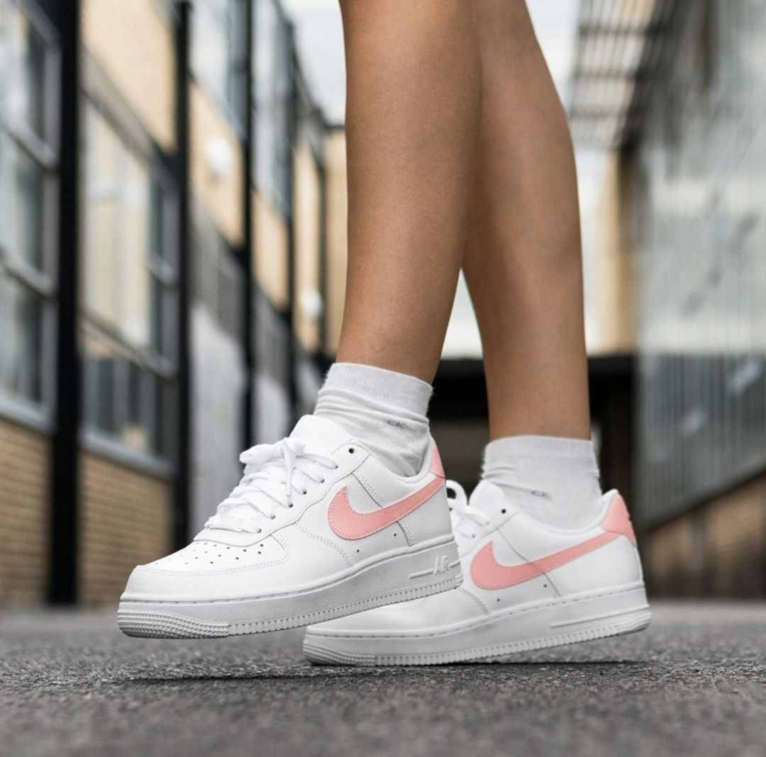 Nike Air Force 1 '07 Patent White Oracle Pink - Rematch   Nike air ...