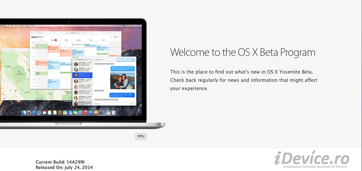 OS X Yosemite public beta a fost lansat de catre Apple Mac