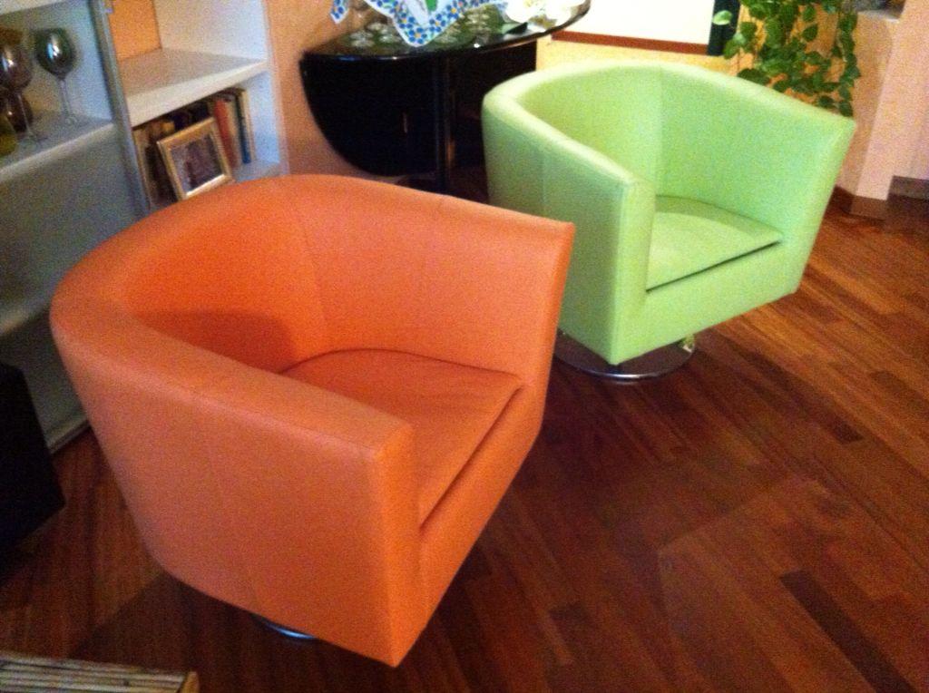 Poltroncine di design, rivestite in eco-pelle colorata - www ...