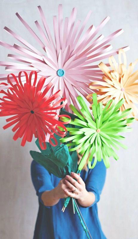 Diy Paper Flower Tabletop Display Paper Love Pinterest Papier