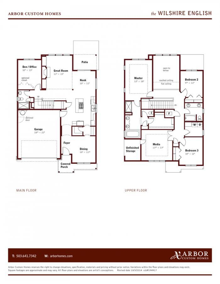 Neighborhoods Floorplan Detail Arbor Homes Floor Plans Home Builders Custom Homes