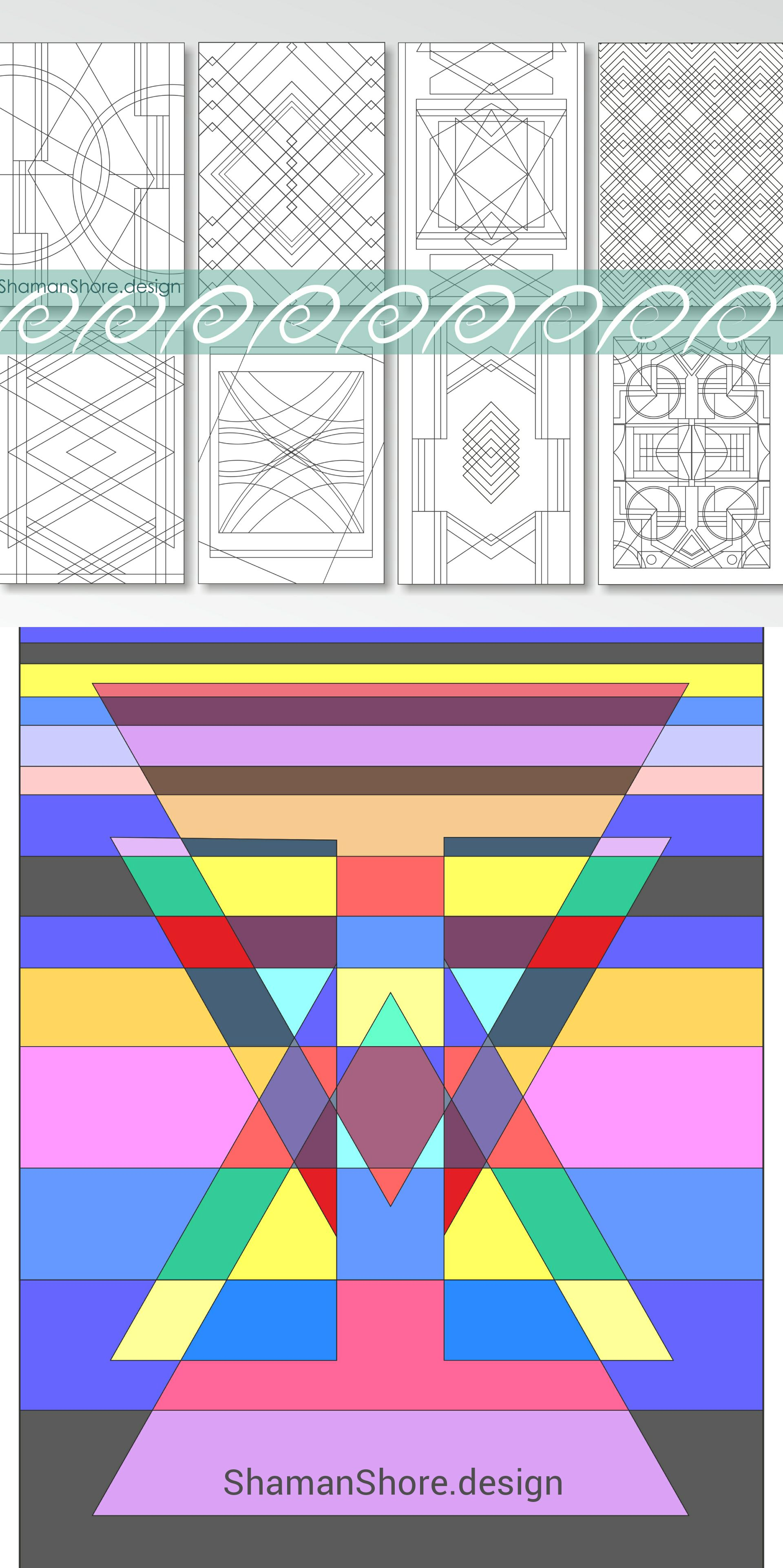 Coloring Book For Adults Geometric Adult Coloring Pages Printable