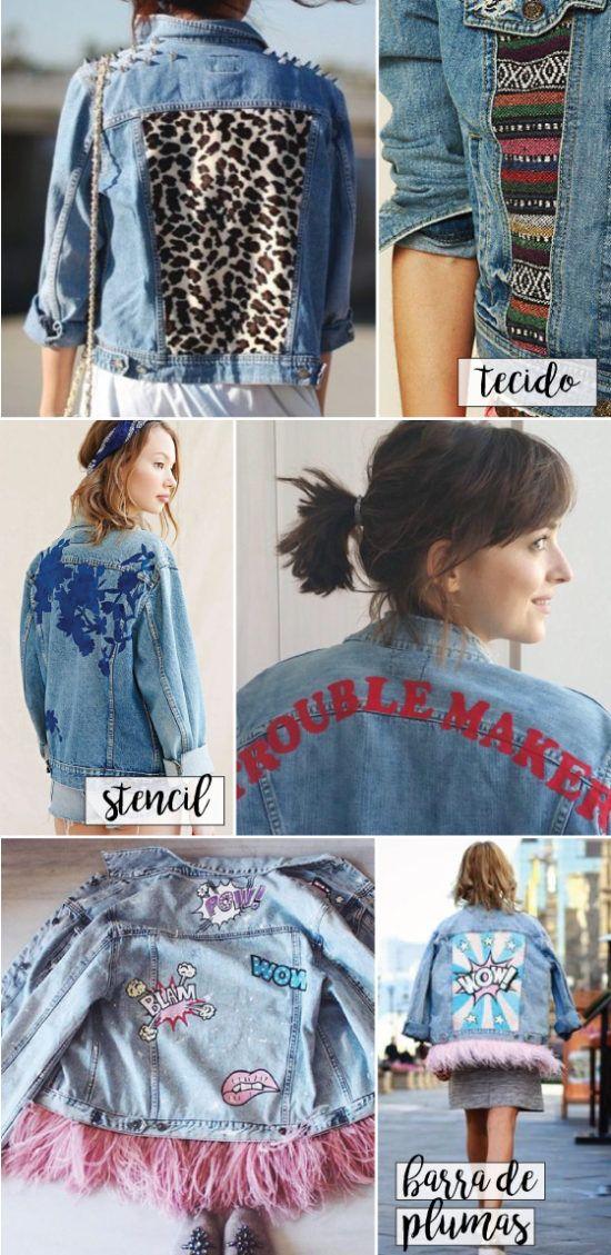 8ea18583ae 10 maneiras de customizar a sua jaqueta jeans! Dicas fáceis de DIY para  deixar a peça mais estilosa. Patches