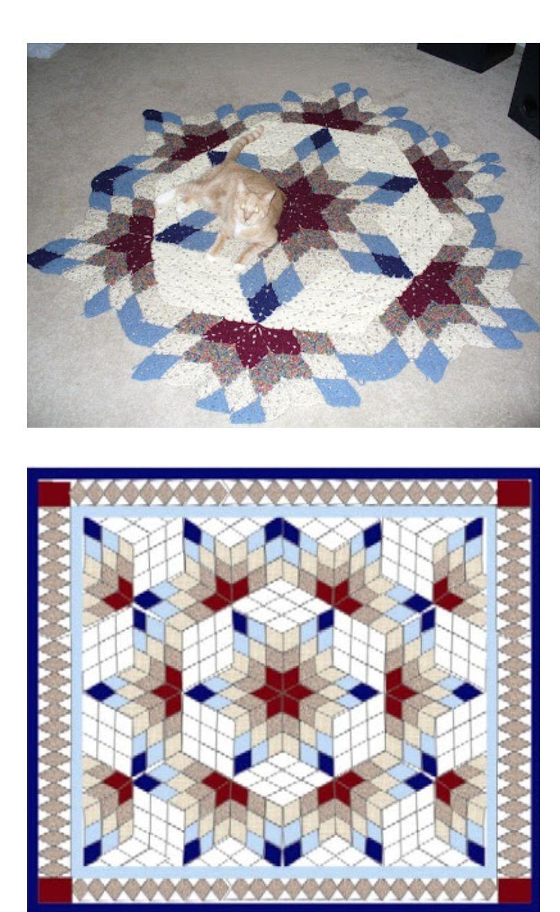 Alfombra o colcha | Patchwork a crochet | Pinterest | Colchas ...