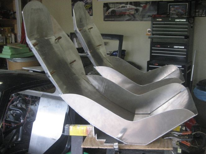 Aluminum Bomber Seats Hot Rod Covering An Aluminum