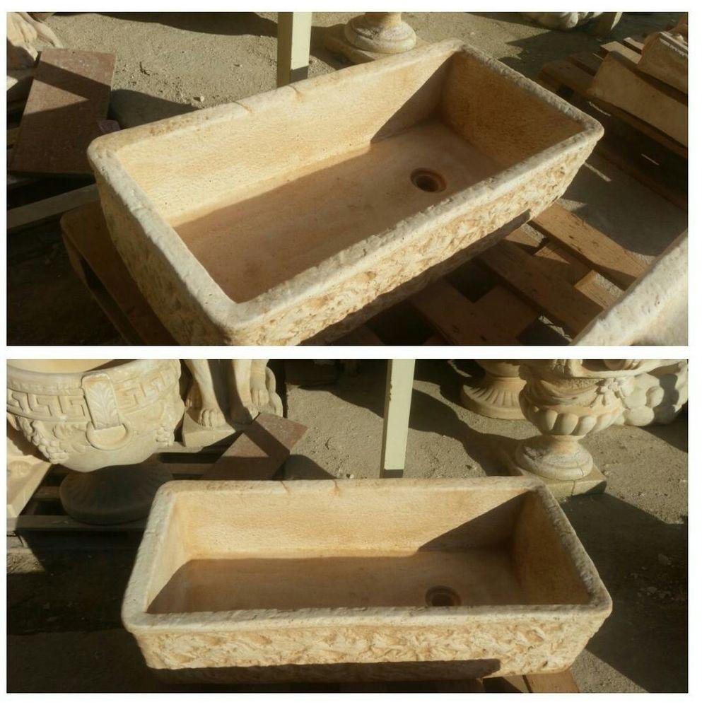 OFFERTA Lavello rustico lavabo vasca cemento giardino 80x40x20 ...