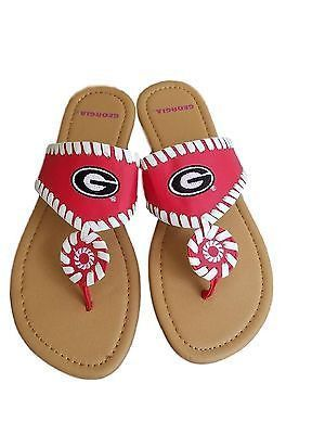 82121556d53df6 University of Georgia Bulldogs UGA Women s Whip Stitch Sandals ...