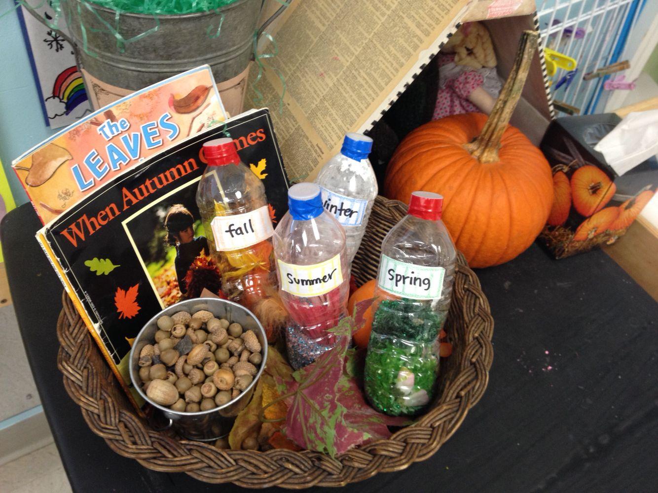 Four seasons preschool fun. Sensory bottles