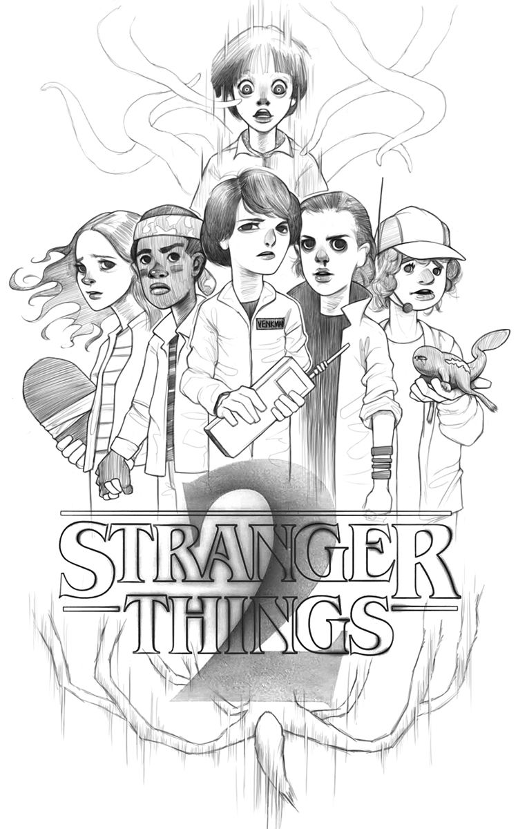 Stranger Things 2 By Iartbilly With Images Stranger Things Art