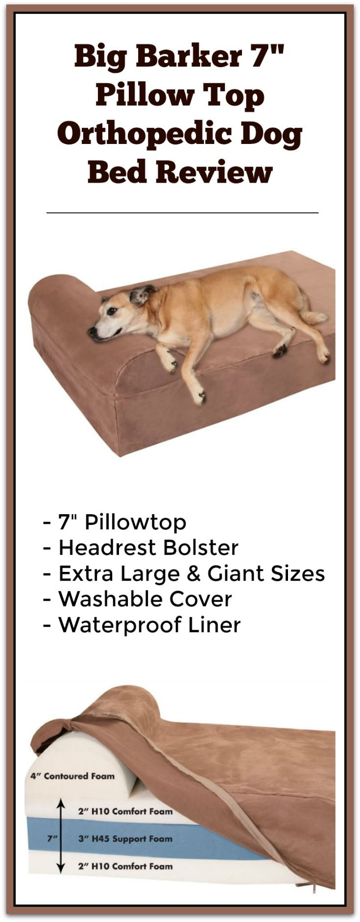 "The Big Barker 7"" Pillowtop Orthopedic Dog Bed review"