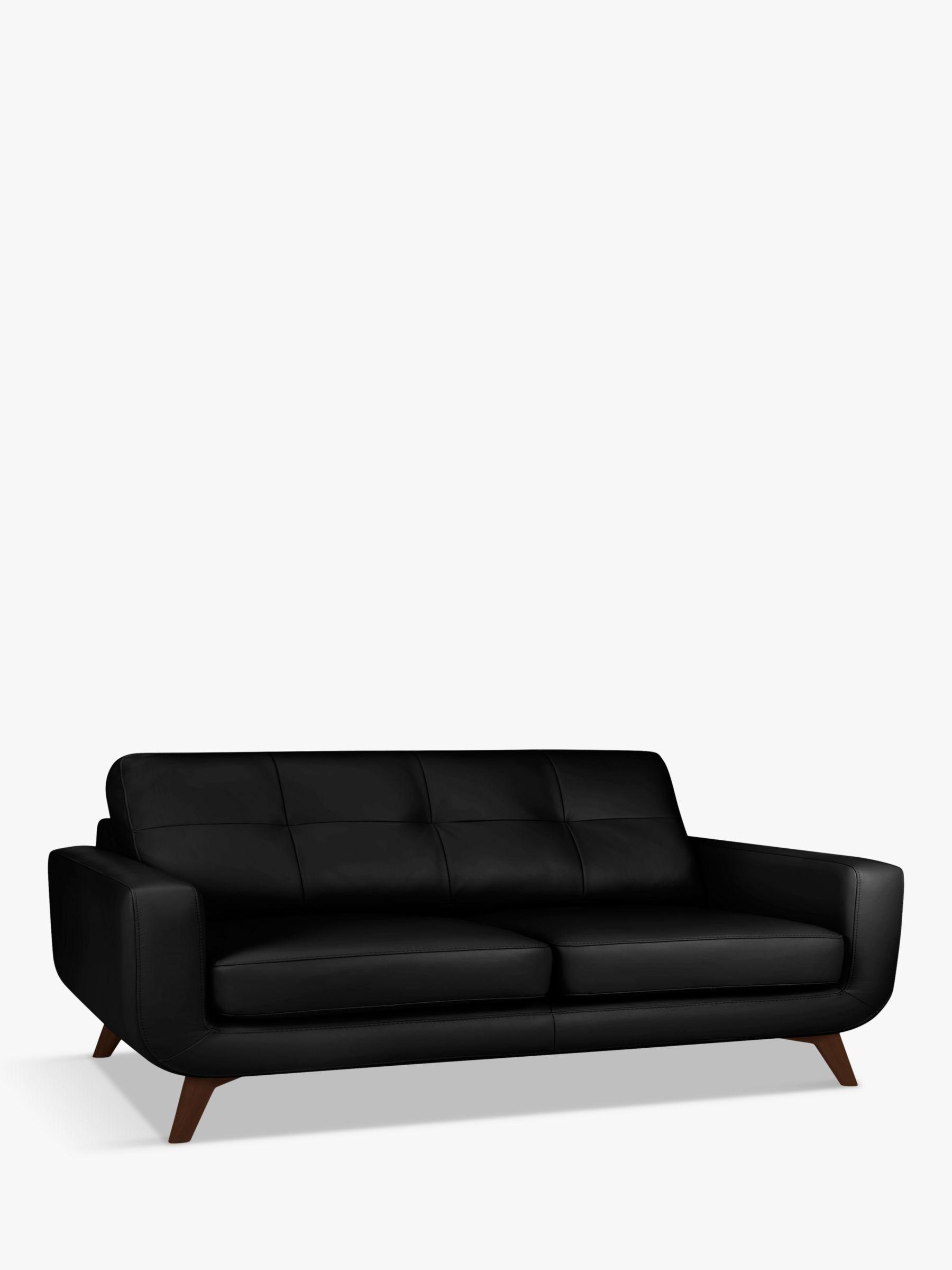 John Lewis Partners Barbican Grand 4 Seater Leather Sofa Dark