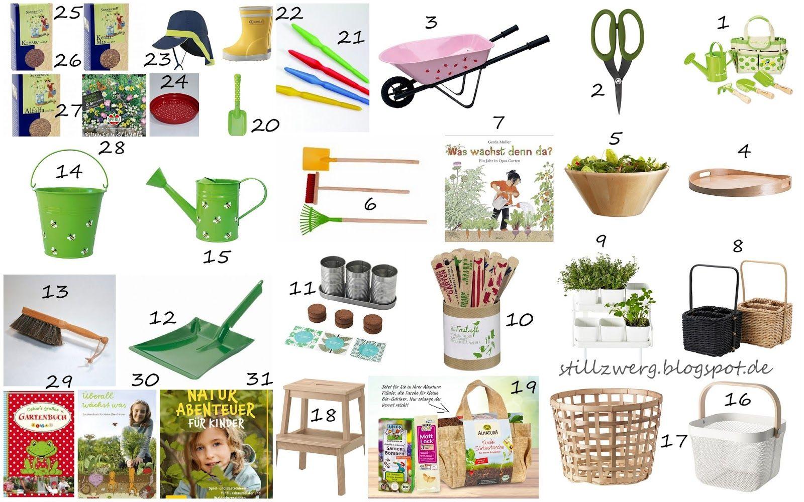 Der Stillzwerg : Praktische Gartenhelfer für Kinder Eine tolle Auswahl für die kleinen Helferlein, finde ich!