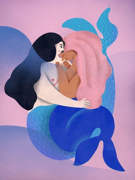 Lesbian mermaid