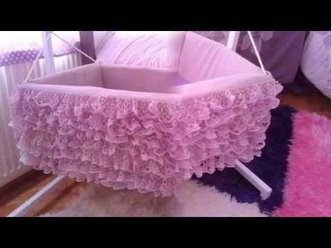 How To Make Baby Nest Ana Kucagi Babynest Yastigi Ve Tul Korumaligi Yapimi Part 2 Youtube Baby Bed Baby Utensils Bed