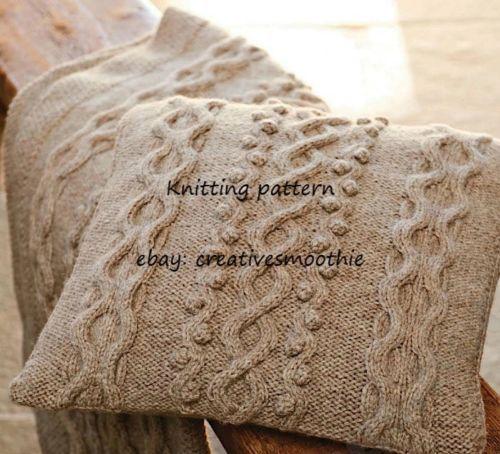 (318) Cushion and Blanket Aran Knitting Pattern | Aran ...