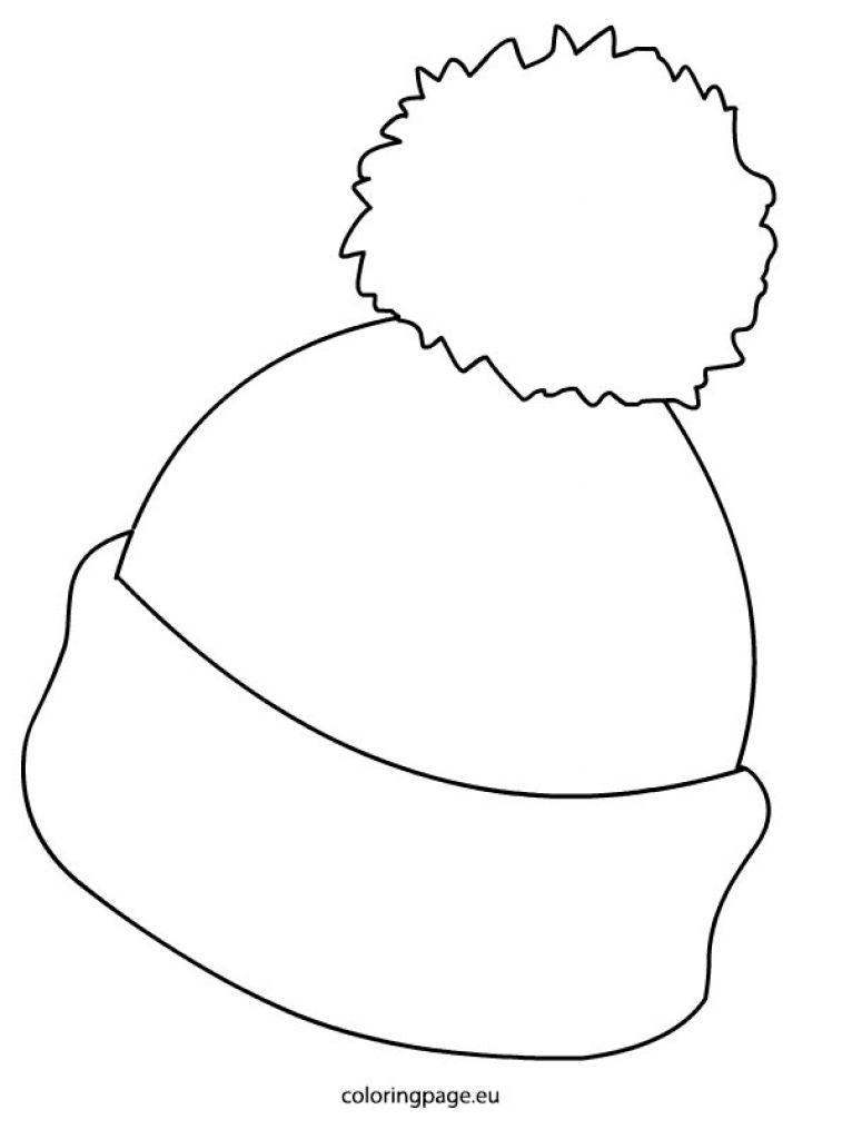 Winter Hat Picture Coloring Page In Awesome And Also Beautiful