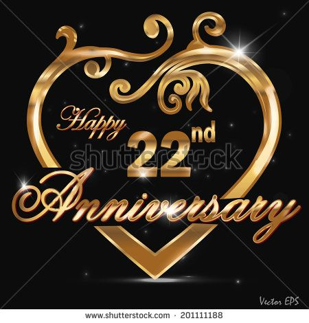 22 year anniversary images 22 year anniversary golden label 22nd
