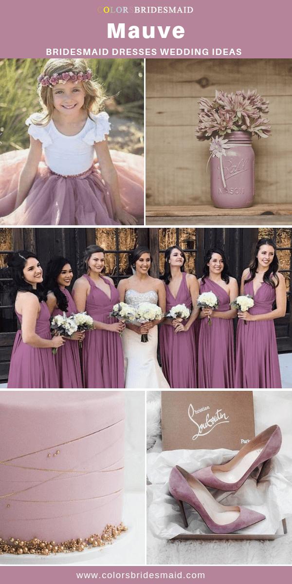 Mauve Bridesmaid Dresses Mauve Wedding Purple Wedding Wedding
