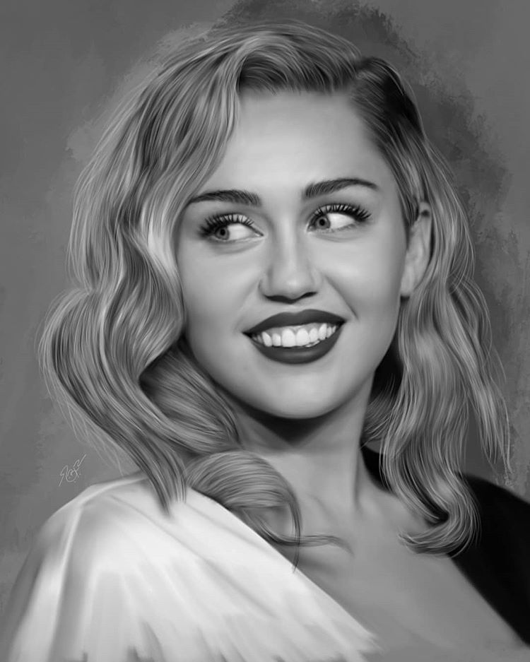 Mileycyrus Tag Her Please Miley Artistic Love Cute Photooftheday Picoftheday Happy Art Sket Miley Cyrus Portrait Miley Cyrus Miley Cyrus Pictures