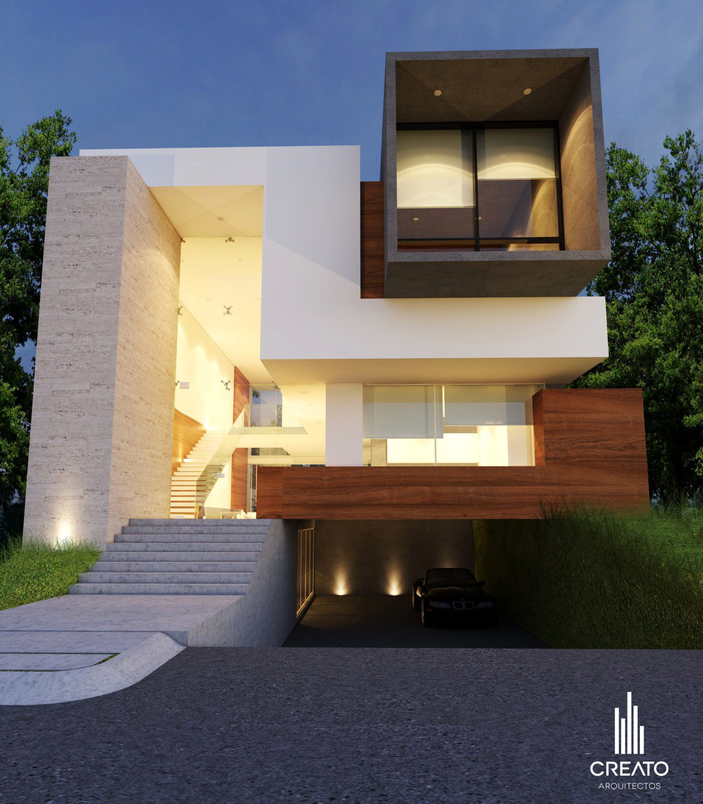 Modern Exterior: Casa La Joya Guadalajara Jal, #Creato Arquitectos