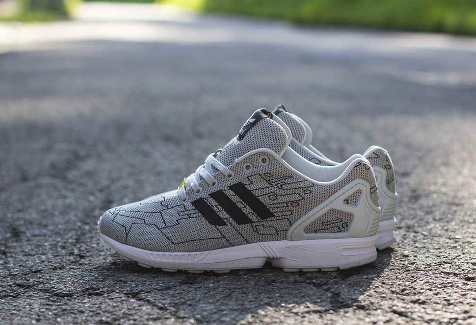 adidas ZX FLUX Smooth W (Solid Grey / Solid Grey / Orange