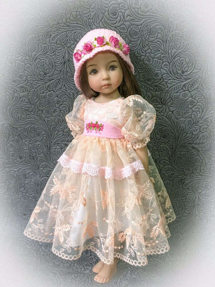 Darling Little Vintage Rose Print Top for Doll or Baby