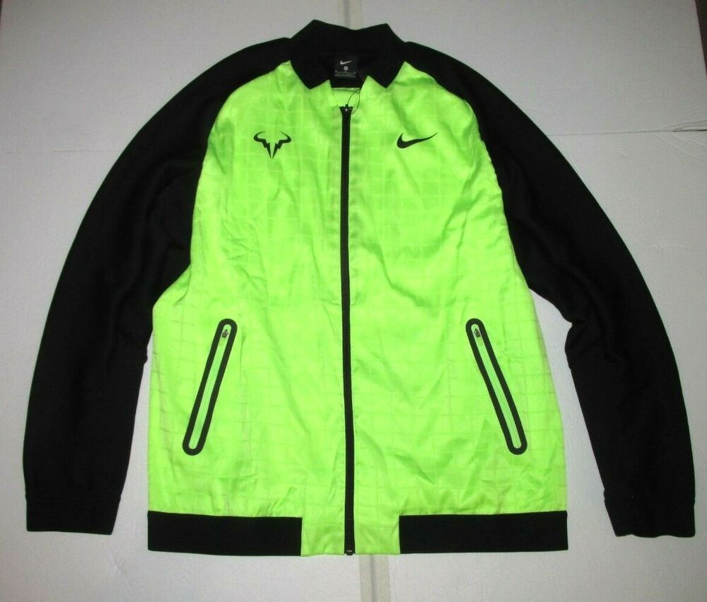 Nike Court Rafa Nadal Jacket Mens M Ghost Green Black Nike Jacket Casual Coat Jackets Black Coat