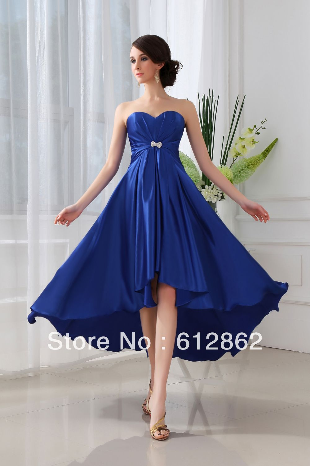 Royal blue short wedding dresses displaying 17 images for Royal blue short wedding dresses