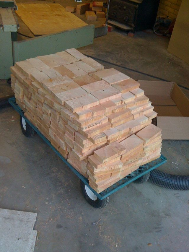 Create A Hardwood Floor Using 2x4 Slivers End Grain Flooring Wood Block Flooring Flooring
