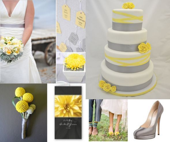 What Color Goes With Grey yellow and charcoal grey wedding - google search | wedding ideas