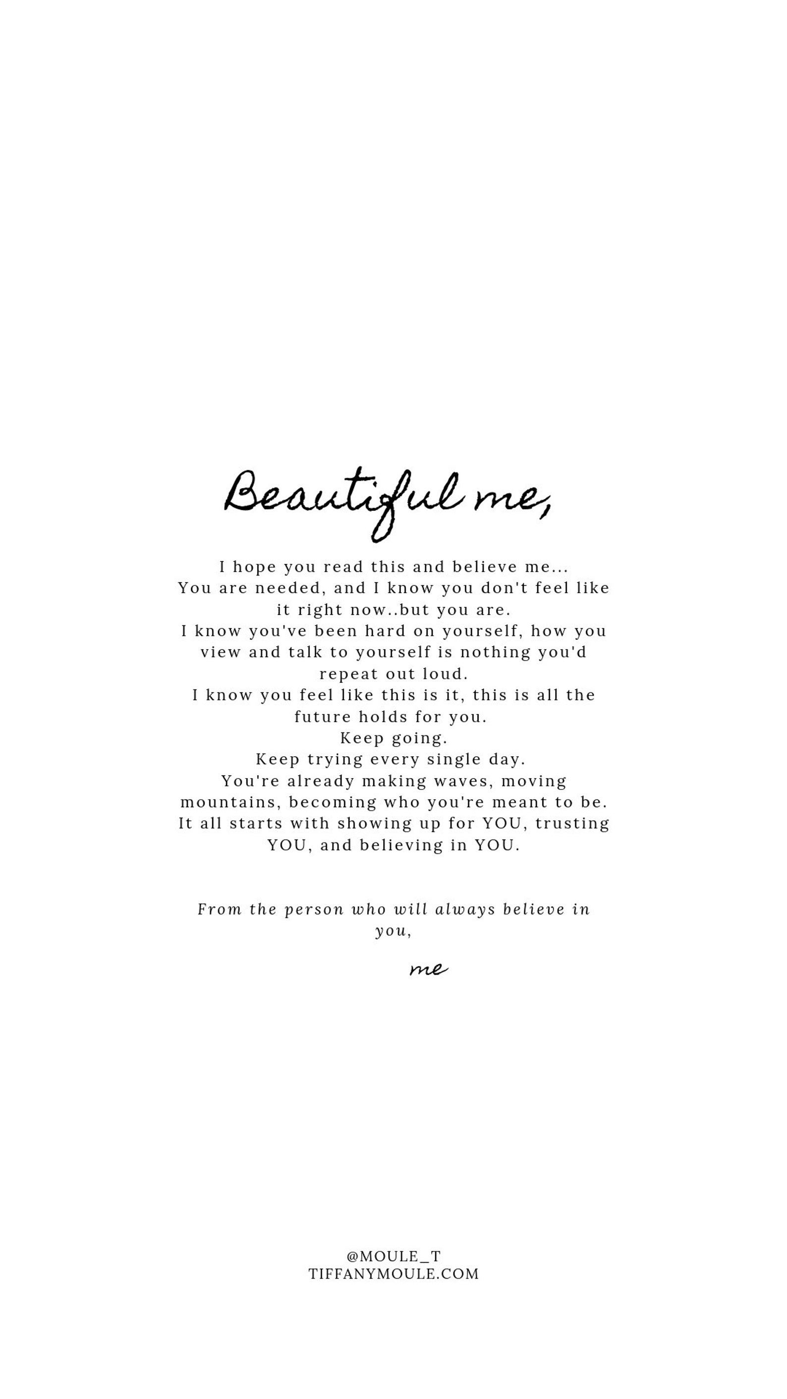Beautiful me.. Quotes by Tiffany Moule
