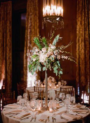 Romantic Manhattan Wedding Topiary Centerpieces Wedding Flowers Flower Spray