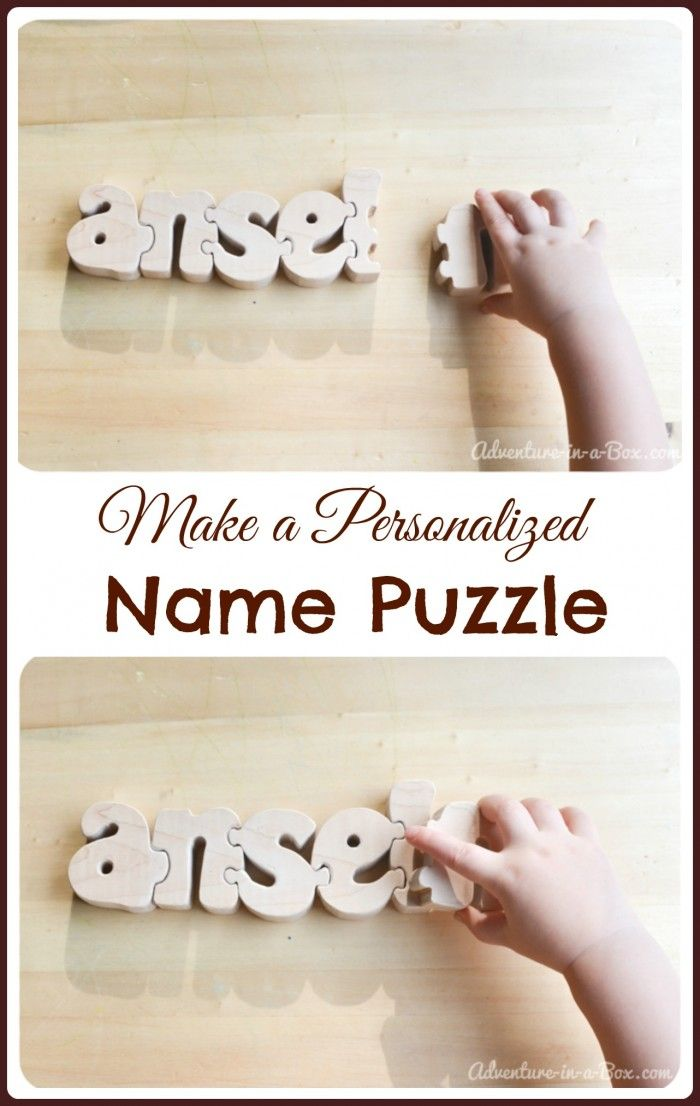 How to Make a Personalized Name Puzzle: a DIY project to introduce children to letters