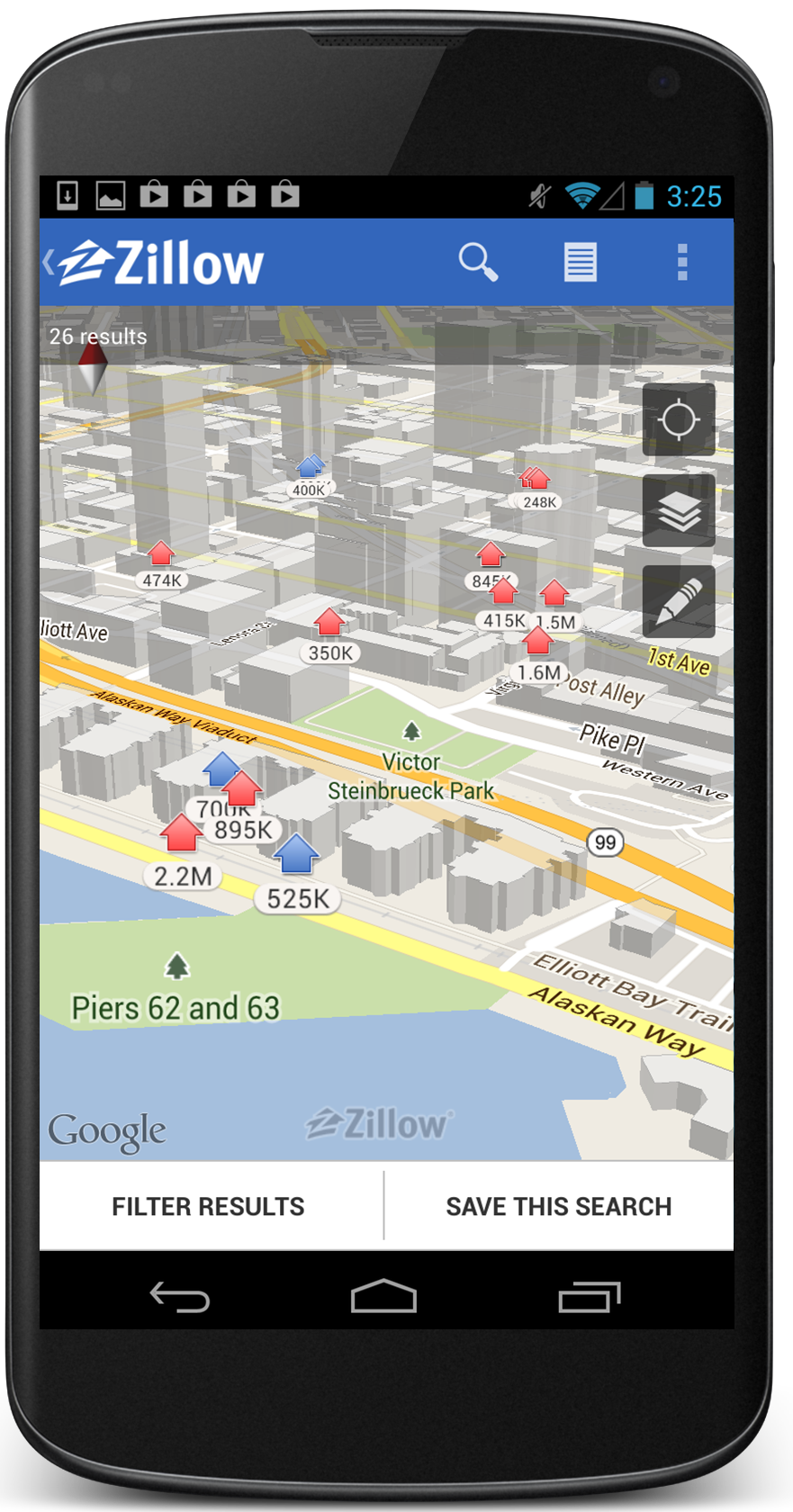 New: View Zillow Mobile search results on a 3D map with the ... Zillow Map Search on