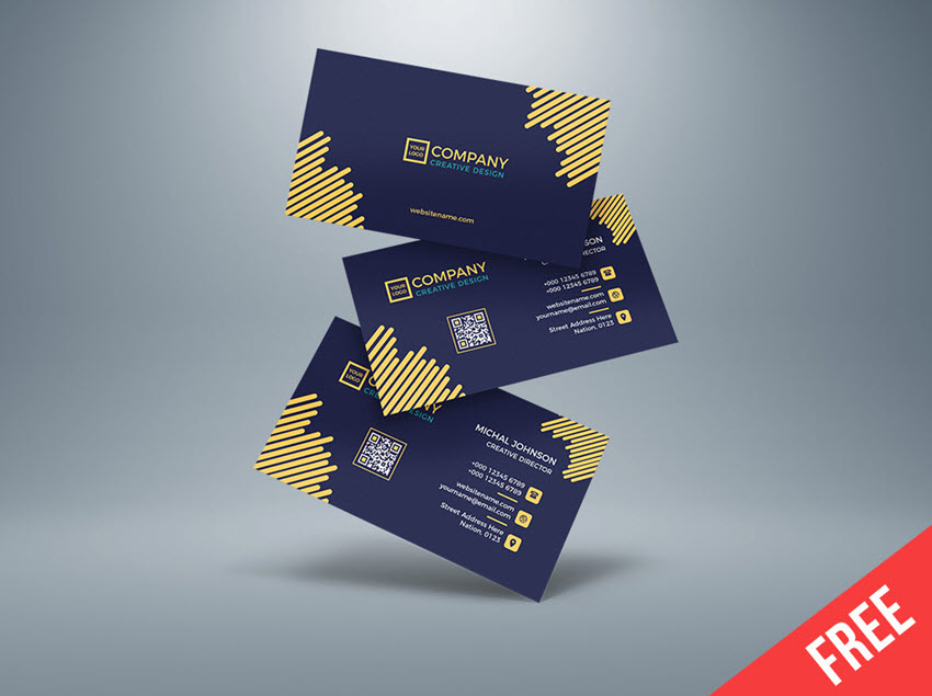 20 Best Adobe Illustrator Business Card Templates Free In Visiting Ca Download Business Card Free Business Card Templates Business Cards Creative Templates