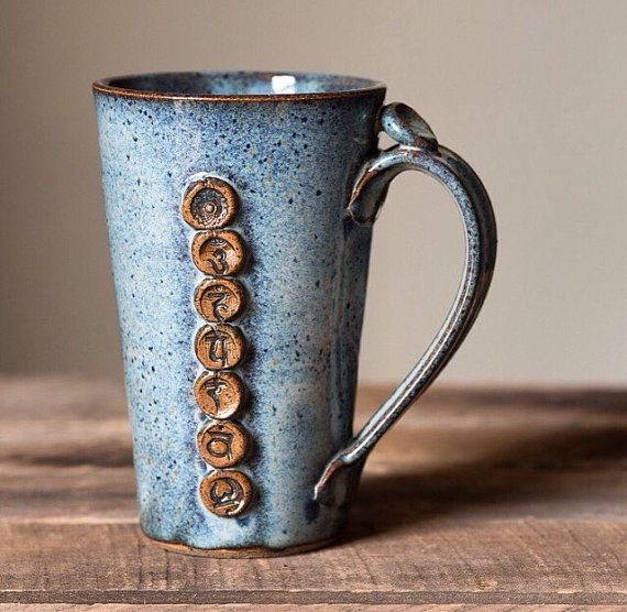 Yoga Chakra Mug - Coffee or Tea Mug for the Yogi in your Life: namaste OM #teamugs