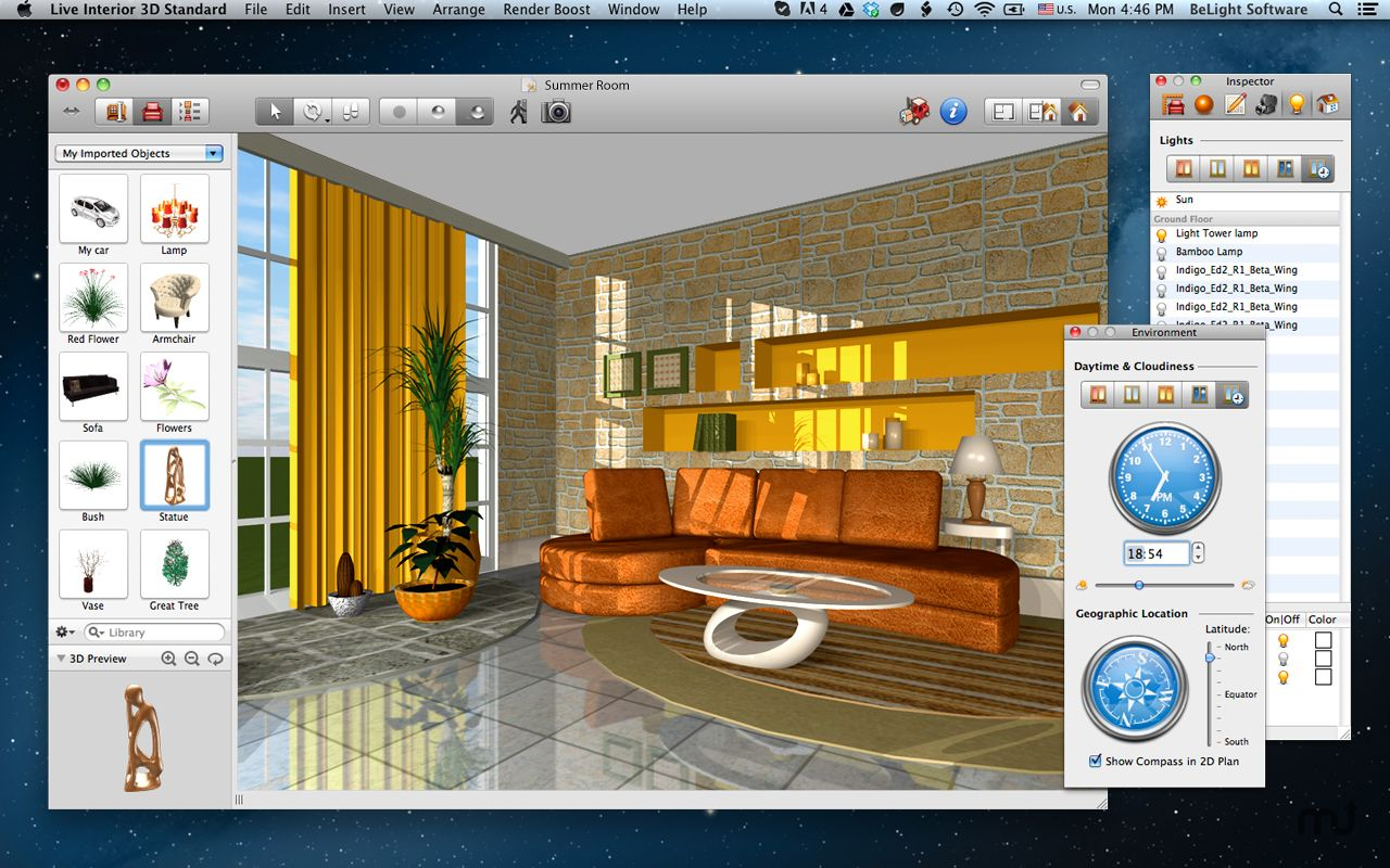 live 1 Interior design software, Free interior design