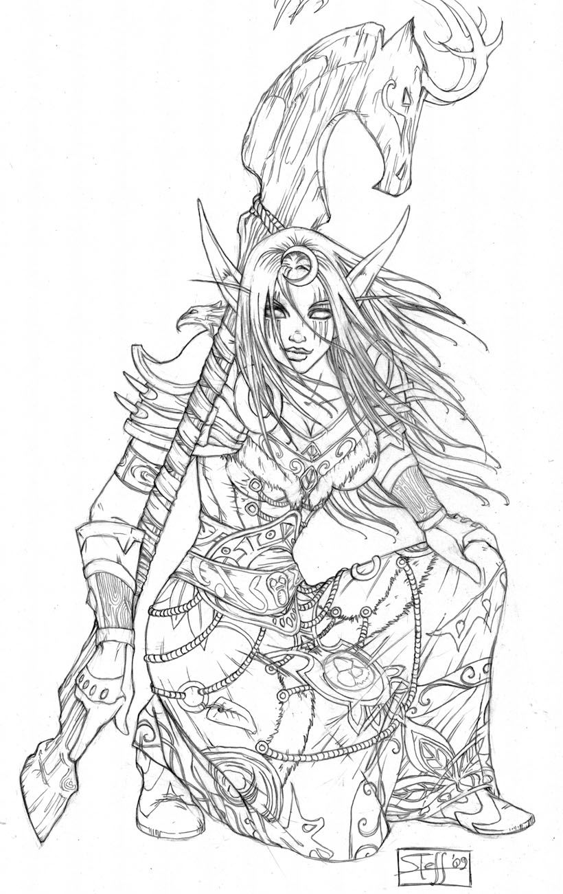 World Of Warcraft Coloring Book Google Search Desenhos