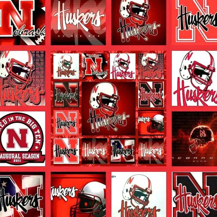 Husker Logo Collage Go Huskers In 2020 Nebraska Huskers Football Nebraska Cornhuskers Football Husker Football