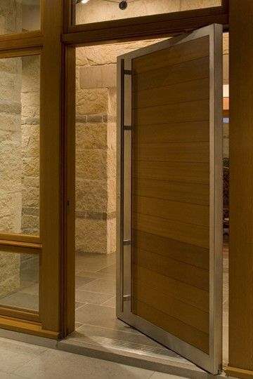 Like horizontal stone accent in a darker color Doors Pinterest