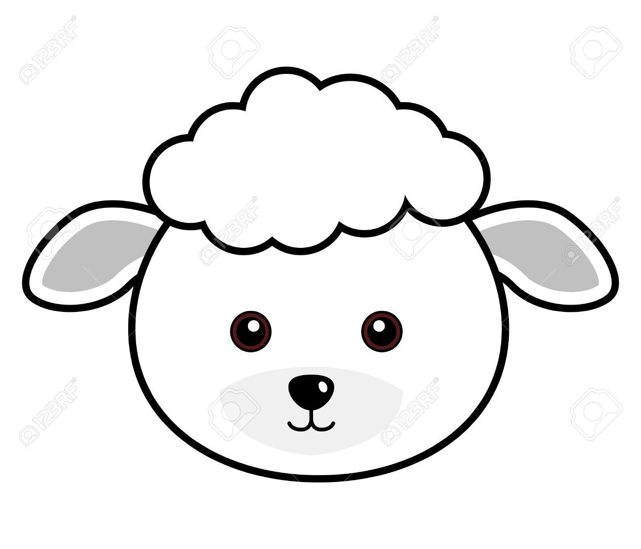 Cute Sheep Vector Stock Illustrations Vectors Face Resolutions Animals Animal Faces Pretty