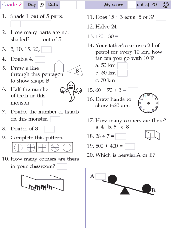 Mental Math Grade 2 Day 19 Homeschool Pinterest Mental Maths