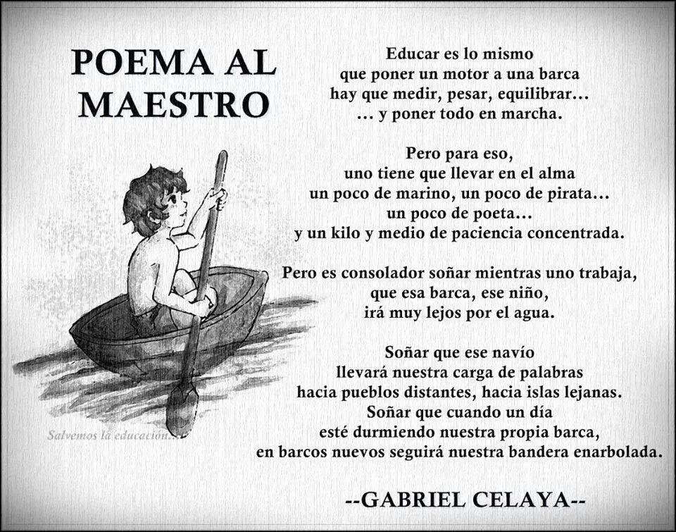 Poema Al Maestro Poemas Para Maestros Poema Al Maestro Feliz Dia Maestro Frases