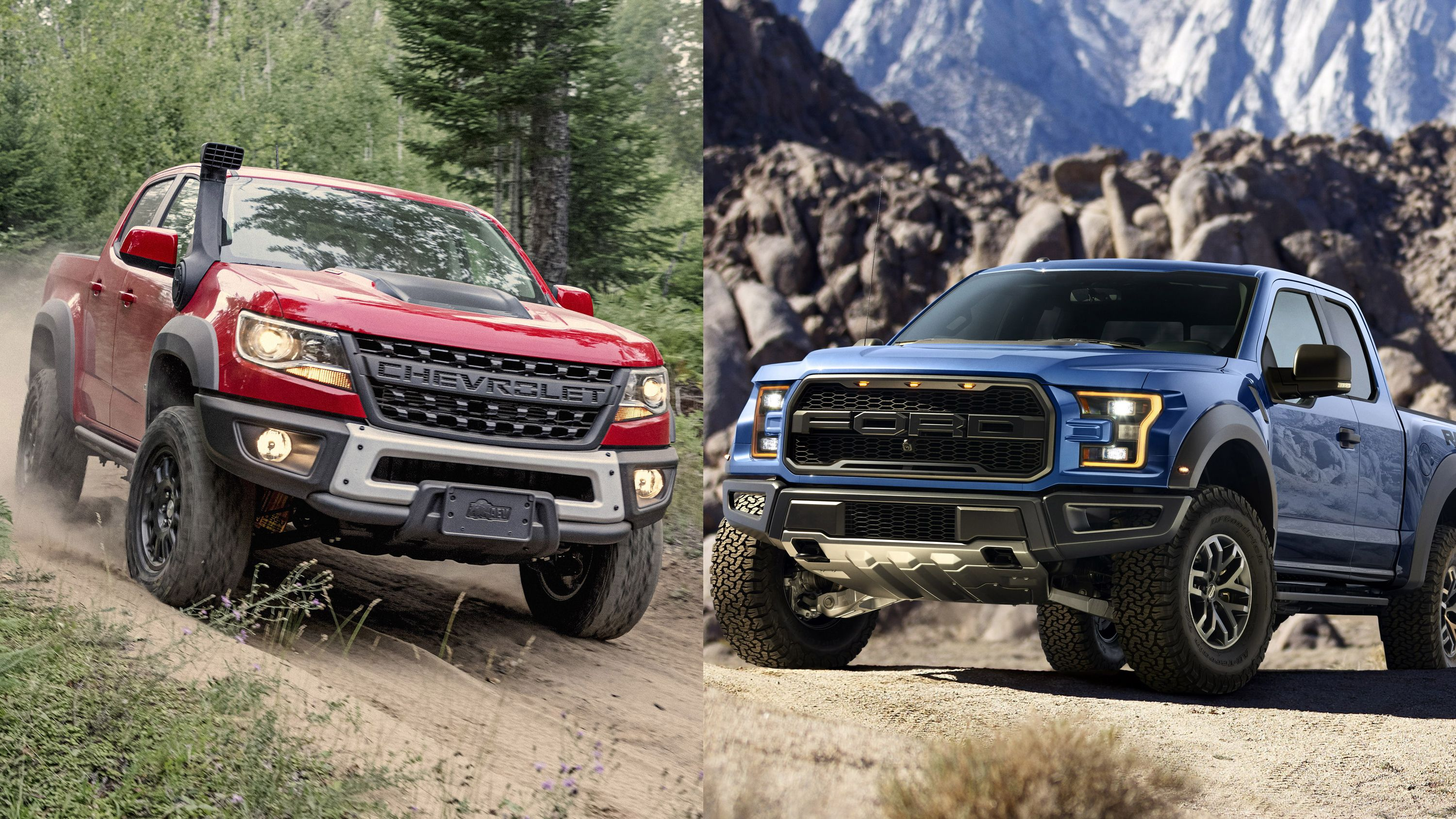 Chevy Colorado Zr2 Bison Vs Ford F 150 Raptor Top Speed Chevy