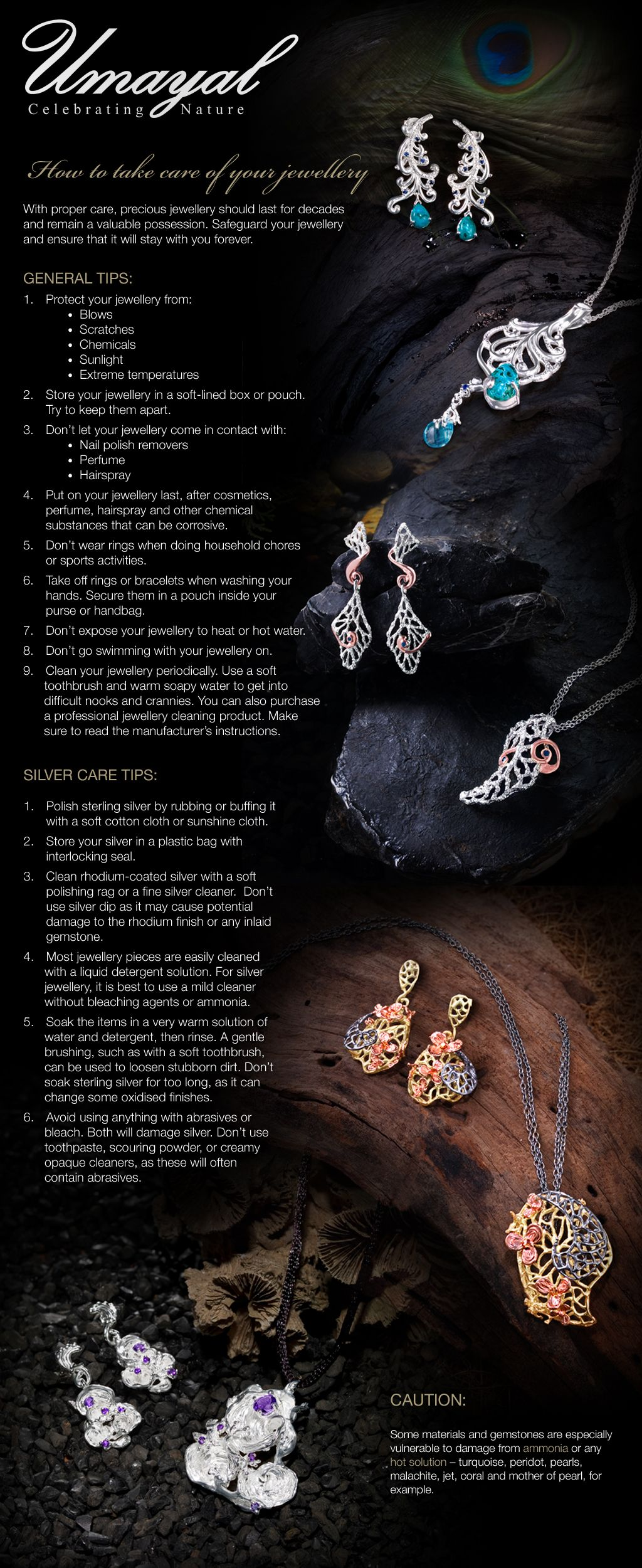 #UmayalCollection #Infographic: How To Take Care of Your Jewellery