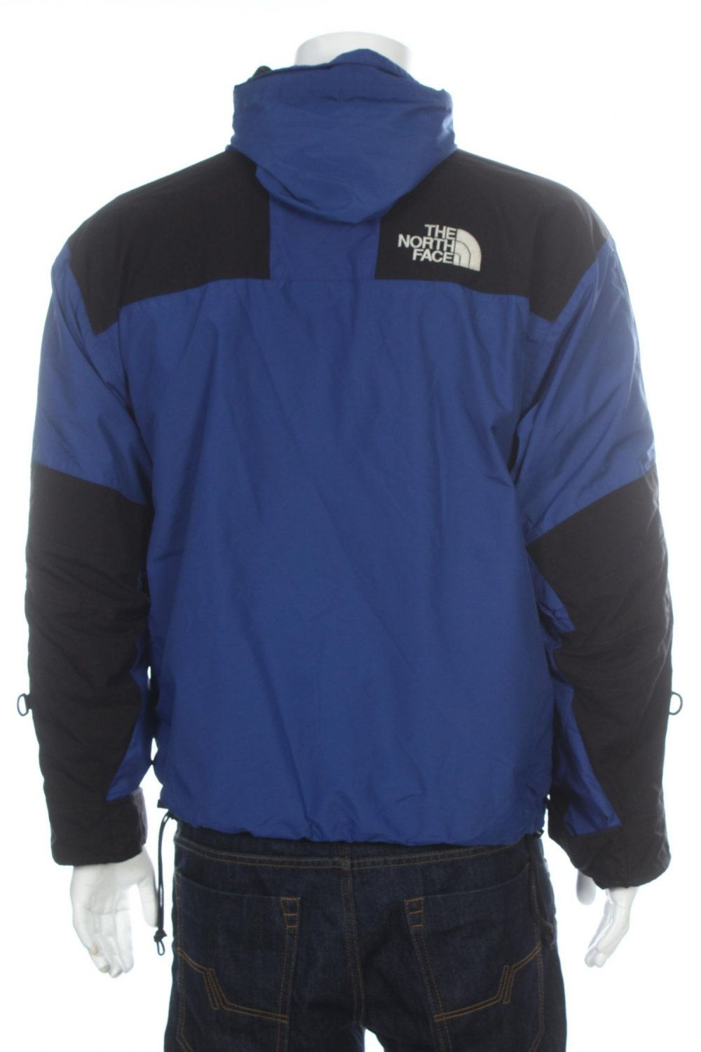4b2a2fd176 Vintage 90s The North Face Mountain Guide Gore-Tex jacket Blue Black Size M  by VapeoVintage on Etsy