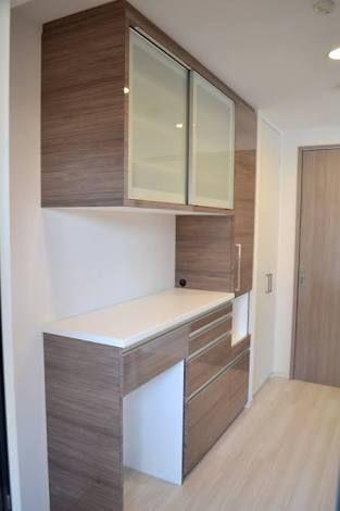 新築 造作 食器棚 の画像検索結果 アパートのデザイン リビング キッチン 食器棚