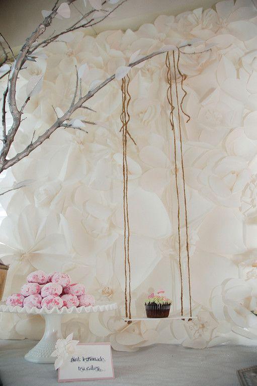 Blumen Wand Fotowand Hochzeit Im Romantik Stil Fotowand Paper