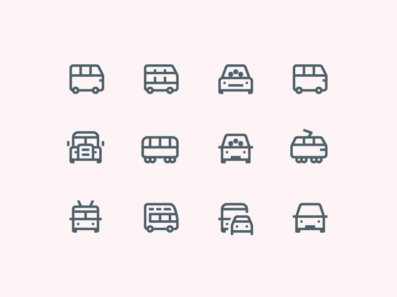 Icon Design 30 Catchy Icon Packs In Different Design Styles Icons Graphicdesign Design Illustration Clipart Uidesign Pictur Bus Illustration Clip Art