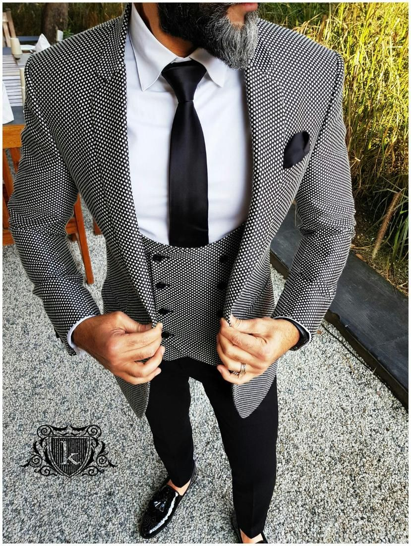 Black And White Four Piece Suit For Inquiries Whatsapp 91 9511613559 Or Ethnicdia Gmail Com Suit Fashion Suits For Men Wedding Suits Men Mens Fashion Suits
